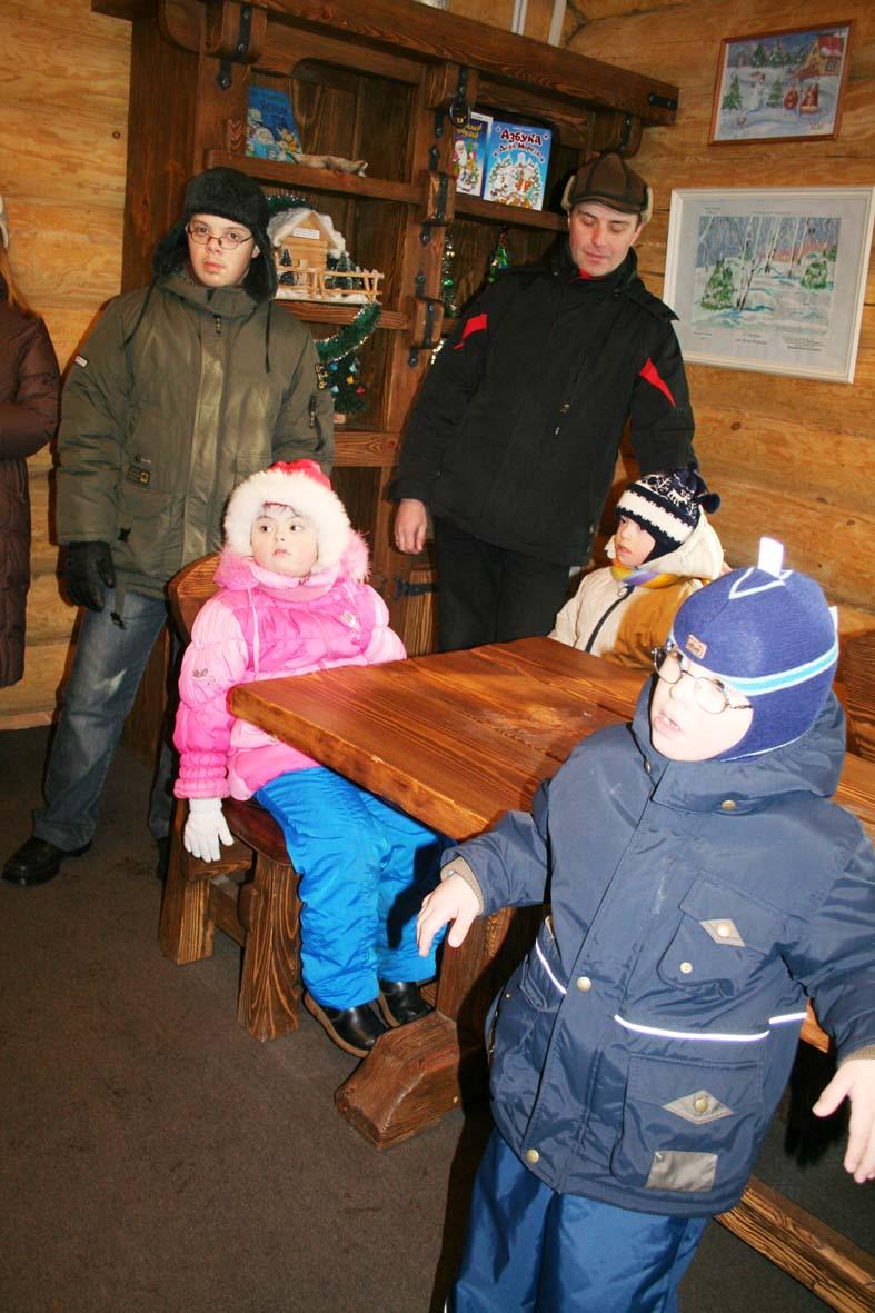 В столовой Деда Мороза.